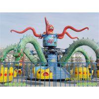 郑州全美厂家定制造型新颖吸引孩子眼球大章鱼空中飞翔游乐设备30座旋转大章鱼