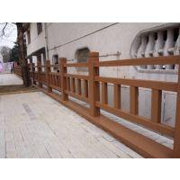 耐腐蚀防护栏杆 水泥仿木栏杆 河堤桥梁仿木护栏