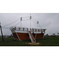 大型景观园林海盗船 木质装饰船 亮化景观木船哪里有
