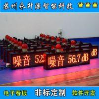 苏州永升源定制建筑工地环境监测系统 噪音监测屏 室外LED屏 电子看板 噪音报警