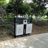 商业街果皮箱 金属喷塑垃圾桶 公共场所分类垃圾桶 青蓝环卫桶厂家按需定制
