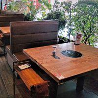 白云市火锅桌椅,现代中式火锅桌椅