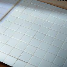 供应新润清 92氧化铝含量 输送机滚筒耐磨陶瓷片(17.5×17.5×4)