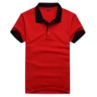 航彬男女短袖插变色T恤棉撞色翻领广告衫定做 办公服文化衫定制工厂