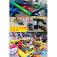 单层充气沙池海洋球池 滑梯组合套餐沙池 充气游乐玩具儿童沙滩池