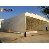 南京工厂活动仓库 帆布户外遮阳蓬 推拉雨棚 伸缩雨棚 移动车棚