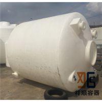 8立方漏斗底塑料罐 8吨底部排水罐 8吨pe尖底塑料罐