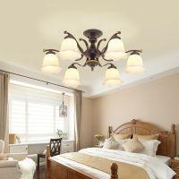 美式乡村客厅玻璃灯现代卧室温馨餐厅灯