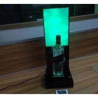 LED发光亚克力展示架鸡尾酒展示架来图异形加工PC乳白板手机支架