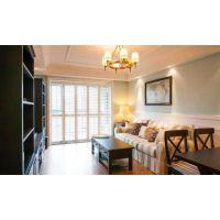 长沙室内家装86㎡美式装修,配色大胆,阳台是最爱