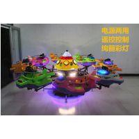 儿童旋转升降飞机车 6座广场娱乐电动秋千鱼 小型飞椅旋转飞机游乐