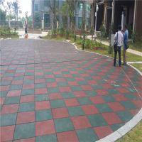 陕西户外橡胶地板铺设 颗粒状地垫多种图案拼装 柏克橡胶地板厂家