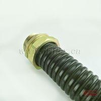 成都镀锌钢带披覆防水阻燃PVC 线缆专用金属软管 配套铁镀锌接头
