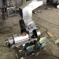不锈钢榨汁机 螺旋挤压榨汁机 鲁强厂家生产500kg水果榨汁机