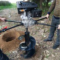 启航挖坑种树机 大马力钻洞机 双人操作挖坑机批发