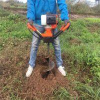 园林栽树打孔机 启航手提式挖坑机 土地打钻机厂家