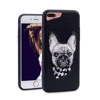 苹果iphone7plus卡通刺绣手机壳iphonex苹果手机皮套刺绣保护套批