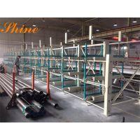 悬臂式货架规格 江苏伸缩式管材货架设计 长货物存储 不锈钢管存放