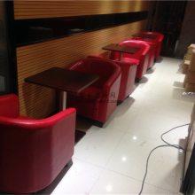 钢木餐厅桌子和单人位沙发椅子组合,惠州现代中式餐厅家具定制