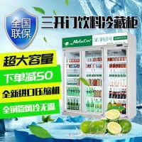 凌雪饮料展示柜冷藏柜三门冰箱立式冷柜LX-YLG
