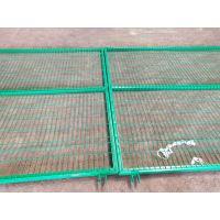 2018年铁丝护栏网优质供应商 带框铁丝网订购可送货 浸塑边框护栏网