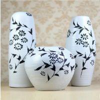 现代装饰品 凌乱线条 家饰 工艺品 陶艺三件套 摆件花瓶