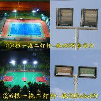 篮球场镀锌高杆灯布置与安装 户外灯光篮球场柏克预算 中山LED球场灯哪里批发