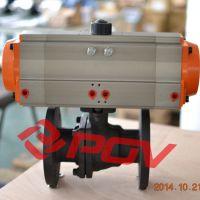 q611f二片式气动球阀,球阀专业制造商