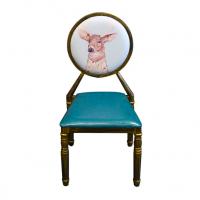 倍斯特北欧创意金属太阳椅复古宫廷主题餐厅工业风铁艺餐椅厂家定制
