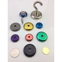 彩色磁铁挂钩 彩色磁铁吸盘固定器 磁性固定器D20 25 32 36 42 48 60 75 90M