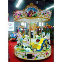 中山汉唐厂家直销产品成人儿童6座豪华旋转木马游乐设备 玻璃钢