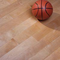 山东青海篮球馆木地板 篮球场地板净高标准 欧氏品牌 实木国标22mm厚 枫木纹运动地板