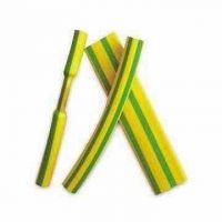 黄绿热缩管 双色接地线束 管道标识热缩管 绝缘热缩套管