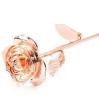 厂家直销外贸定制款全镀金玫瑰花天然玫瑰材质手工制作创意礼物