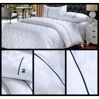 宾馆床上用品 酒店床品 客房布草 加厚缎条四件套 可定制