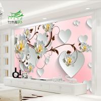 竹木纤维3D5D背景墙 电视沙发背景墙屋定制护墙板装饰板快装厂家直销