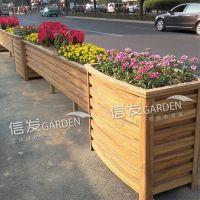 长条道路组合花箱 隔离带隔离栏 铝合金材质