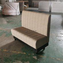 简约港式茶餐厅卡位沙发定做,香港防火皮双人位沙发工厂直销