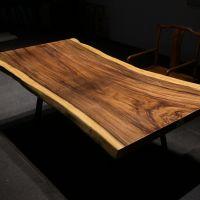 胡桃木全实木原木茶几台简约现代桌子多功能茶桌办公桌大班台现货