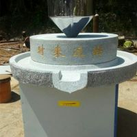 早餐豆浆专用电动石磨机 花纹雕刻精细石磨豆浆机