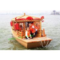 观光船价格 木船厂家出售得胜湖景区游船