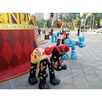旺旺战队2018狗年主题展玻璃钢卡通雕塑创意主题展览摆件商业空间美陈摆件