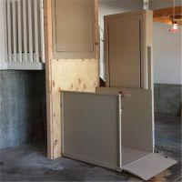 凌源市厂家定制直销导轨式残疾人升降机 电动液压升降家用电梯