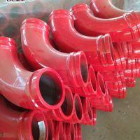 混凝土输送耐磨6万方泵管弯头 砼泵车高压弯头 砼泵配件