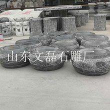 定做各种石头墩子 大规格青石柱墩图片 古建柱底石