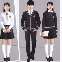 定制中学生英伦秋冬装长袖校服三件套英伦风韩版男女生班服套装