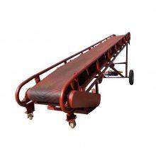 兴亚云浮市小型不锈钢PVC输送机 爬坡流水线皮带机 移动式传送上料机