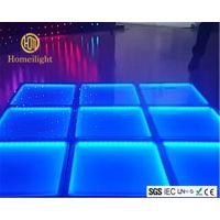厂家直销 虹美 LED染色地板砖 50X50cm 钢化玻璃地板砖 LED酒吧婚庆舞台跳舞地板砖