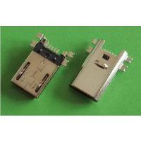 贴板式micro公头 micrro usb5P公头90度插板 micro usb公头插头