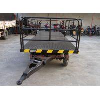 牵引平板拖挂车 围框护栏拖车 港口码头拖
